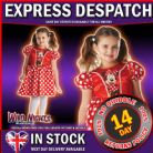 FANCY DRESS COSTUME ~  DISNEY CLASSIC MINNIE MOUSE SMALL AGE 3-4